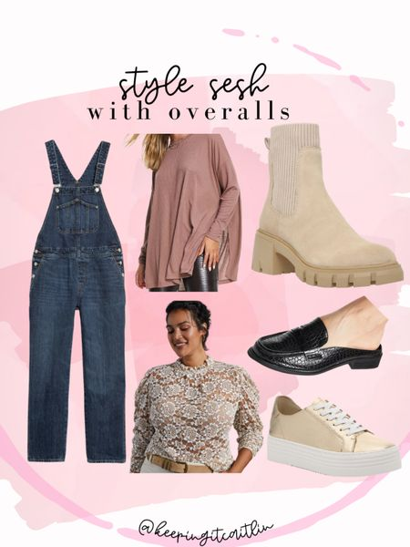 Boyfriend fit overalls. Overalls outfit. Plus size and regular in everything    #LTKstyletip #LTKunder50 #LTKcurves