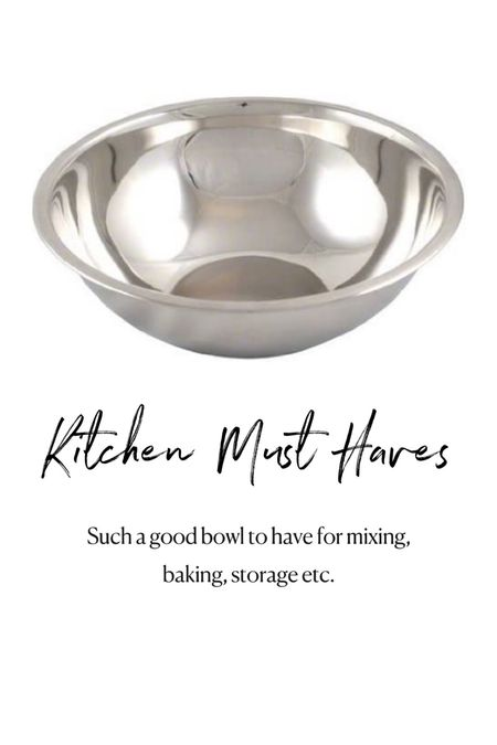 Amazon kitchen must haves. Stainless steel mixing bowl  #LTKunder50 #LTKhome