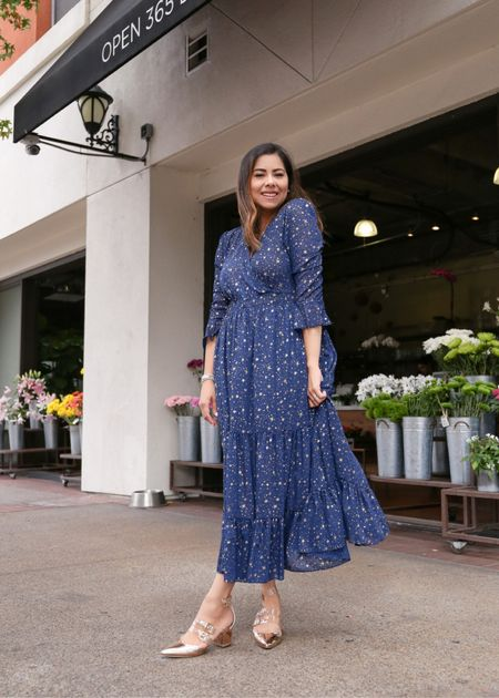 star printed maxi skirt, navy blue maxi skirt, fall midi dress  #LTKstyletip #LTKSeasonal #LTKHoliday