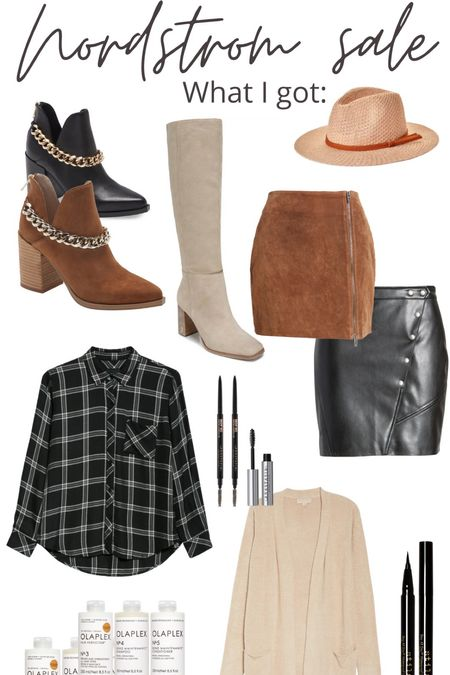 So excited for the goodies I got from the N sale! Nordstrom always has the best things on sale and I was so excited to stock up on some boots and staples for Fall! Leather skirt, suede skirt, fall hat. Flannel. Barefoot dreams. Knee high boots. Chain booties.   #LTKSeasonal #LTKshoecrush #LTKsalealert