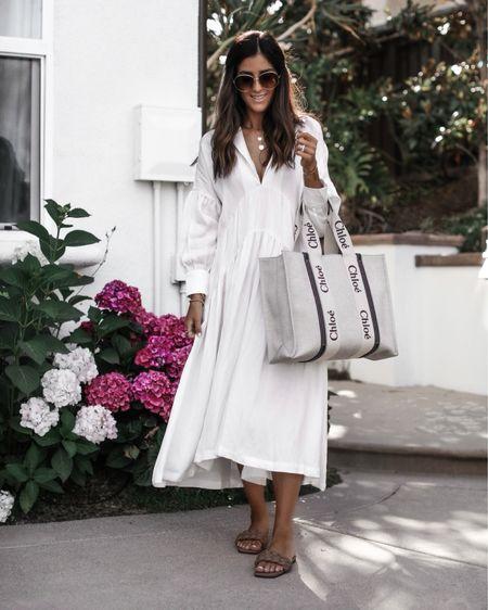 Wearing size small dress, I'm just shy of 5'7 for reference, linking similar white dresses, summer dress, white dress, date night, brunch dress, vacation outfit, sandals, tote bag, StylinbyAylin @liketoknow.it #liketkit http://liketk.it/3hUwA       #LTKstyletip #LTKshoecrush