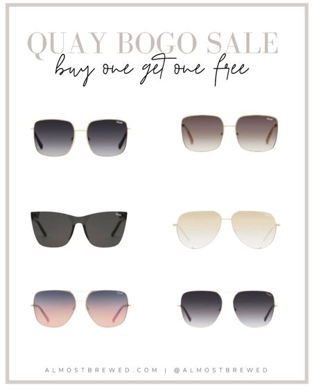 Quay Australia Sunglasses Buy one get one free. Bogo sale. Sunnies, Glasses, frames  #LTKsalealert #LTKSeasonal #LTKunder100