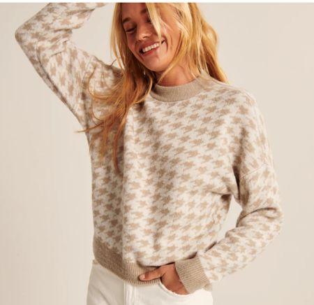 Houndstooth sweater   #LTKHoliday #LTKSeasonal #LTKunder100