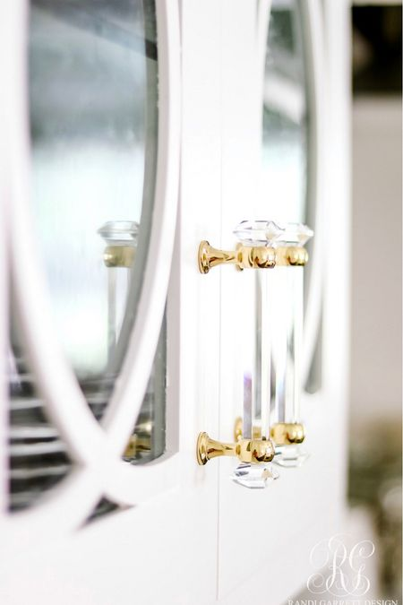 """Glass and brass kitchen hardware. I have the 4"""" handles. The others are pieces we are using in our new home.  #LTKunder50 #LTKhome #LTKstyletip"""