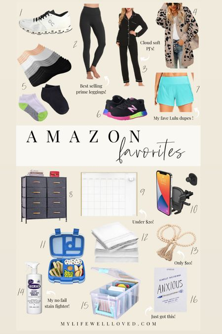 Amazon finds // Rounded up my favorite amazon items! Tons of cute clothing for moms, home decor, storage and organization, and back to school items!   #LTKhome #LTKunder50 #LTKbacktoschool