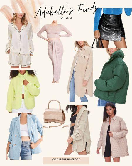 Forever 21 dupe jacket free people fleece Sherpa puffer jacket set balenciaga dupe skort   #LTKSeasonal #LTKunder50 #LTKunder100