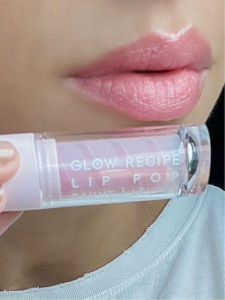 The best lip balm I've ever used-  Lip scrub, tinted lip balm, natural lips, lip color, pink lip color, lip pop, glow recipe, makeup   #LTKunder50 #LTKbeauty #LTKunder100