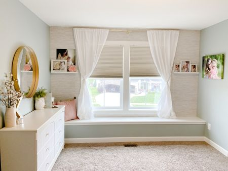 Kenley's bedroom transformation is complete and I'm loving the before & after! Most of the home decor pieces & wallpaper is tagged below for you!   #LTKunder100 #LTKstyletip #LTKhome