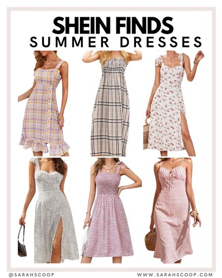 Check out these cute dresses!  shein | dress | dresses | trends | trending | cute | floral print | floral | affordable | low price | pink | black | purple | white | patterned   @sarahscoop www.sarahscoop.com    #LTKunder50 #LTKunder100