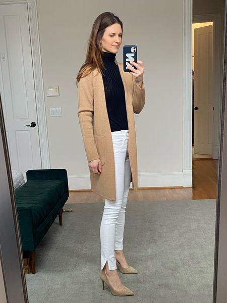 Neutral style, work style, white jeans,   #LTKSeasonal #LTKworkwear