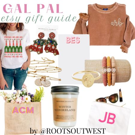 GAL PAL GIFT GUIDE  I curated items from Etsy that will make for a special gift for the ladies on your shopping list.  Heck, these would even be perfect to add to your own wishlist. This is my 2nd year rolling out Etsy Gift Guides & I have so much fun curating items from talented small shops on the platform. Which item catches your eye first? Tag a friend that may find this list helpful!   #LTKHoliday #LTKGiftGuide #LTKSeasonal