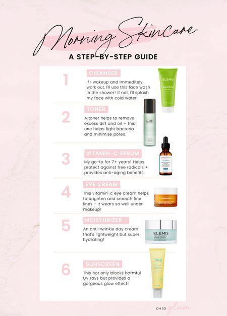 My morning skincare guide!   #LTKbeauty