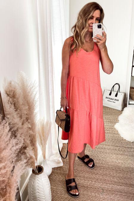Easy cotton tiered dress on sale with code CYBER. $40 4 colors. Wearing S   #LTKtravel #LTKsalealert #LTKunder50