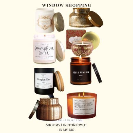 Fall candle roundup. Which ones are you getting?   #LTKGiftGuide #LTKHoliday #LTKhome