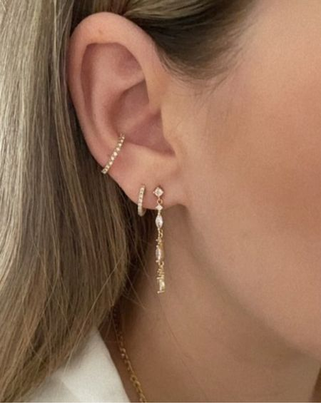 diamond huggie earrings #huggie #earrings