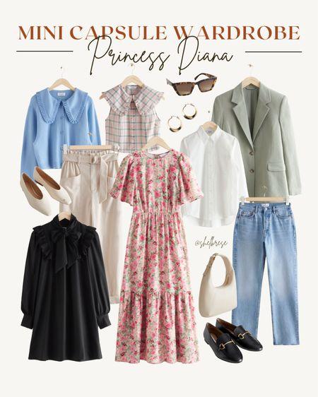 mini capsule wardrobe inspired by princess diana 💛   #LTKunder100 #LTKstyletip #LTKunder50