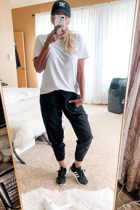 Adidas for the win. Casual outfit. #adidasshoes #fabletics #joggers  #LTKstyletip #LTKunder50 #LTKshoecrush