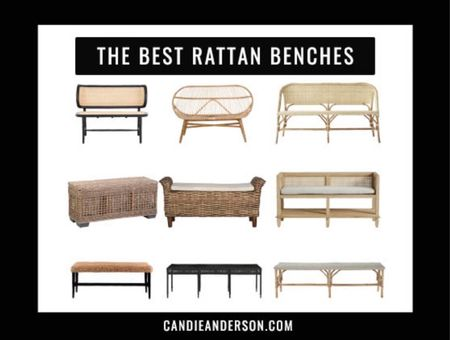 Best rattan bench. Best rattan entryway benches. Best rattan benches for bedroom. Trendy bench for your home. ❤️  #LTKhome