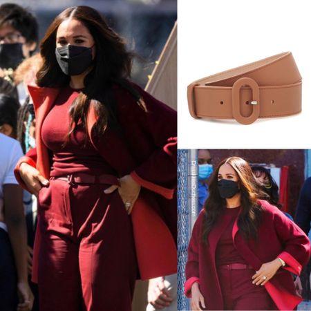 Meghan wearing Loro Piana eyelet belt #accessories   #LTKstyletip #LTKworkwear