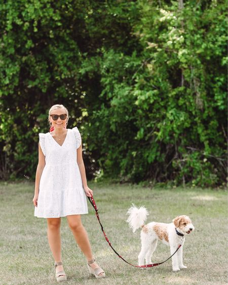 Love this eyelet dress 🙌 perfect for spring and summer 🥰 http://liketk.it/3chUY #liketkit @liketoknow.it #LTKSpringSale #LTKunder50