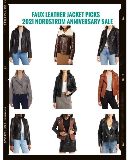 Here are my faux leather jacket picks from the Nordstrom Anniversary sale. They range from $54.90 to $199!      #nordstrom #nordstromsale #nordstromanniversarysale #nordstromsale2021 #2021nordstromsale #2021nordstromanniversarysale #nordstromjacket #nordstromfall #nordstromjackets #jackets #fauxleatherjacket #motojacket #nsale                       #LTKstyletip #LTKtravel #LTKsalealert