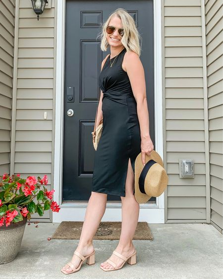 I love my new black midi dress. It's the perfect summer dress! It's from Amazon and very affordable! I'm wearing a small. Fits TTS!   #LTKstyletip #LTKunder50 #LTKshoecrush