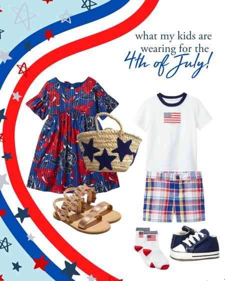 What my kids are wearing for the 4th of July   Toddler girl 4th of July outfit ideas   Baby boy 4th of July outfit ideas   Red white and blue kid outfit ideas on sale     #LTKkids #LTKbaby #LTKunder50