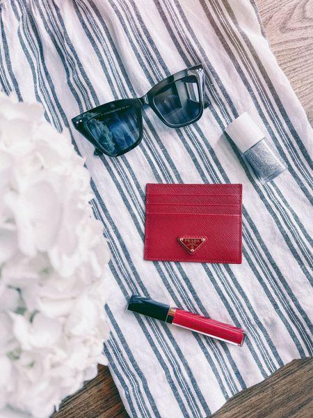 Summer sunglasses lipgloss cardholder prada  #LTKunder50 #LTKtravel #LTKunder100