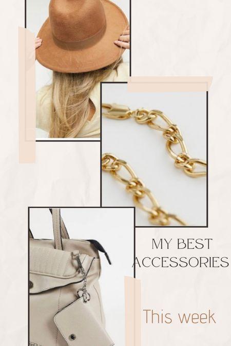 My best Accessoires this week ✨  #accessoires #bag #beigebag #hat #jewellery #gold  #LTKunder50 #LTKGiftGuide #LTKunder100