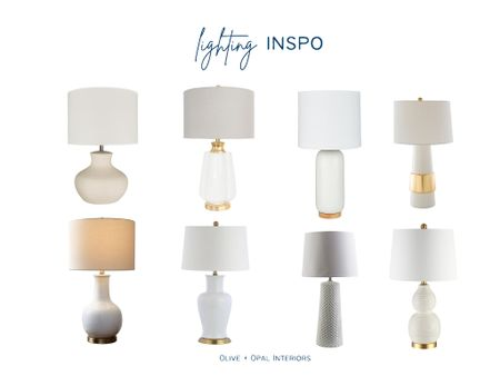 You can use these versatile white lamps in any room in the house.  White lamps, lamp ideas, accessories, home decor, living room ideas, bedroom lamps  #LTKhome