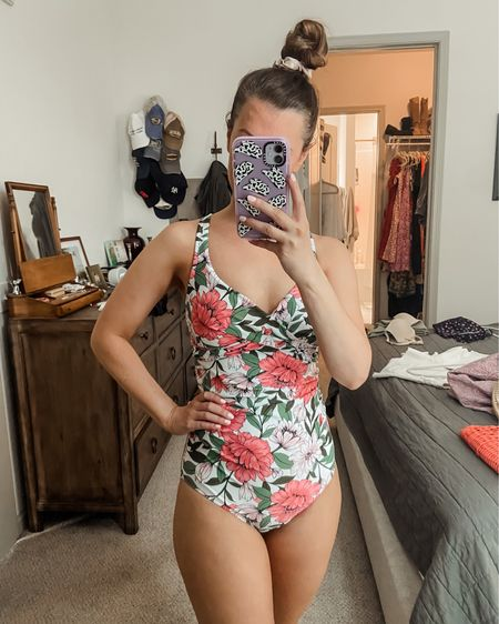 Target finds // Target swimsuit // swimsuits under $50 // travel // summertime // summer // floral swimsuit // vacation // beach http://liketk.it/3jk1I #liketkit @liketoknow.it #LTKtravel #LTKswim #LTKunder50