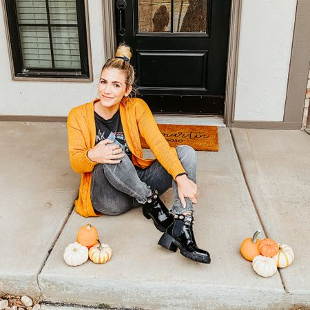 These boots are my pick of the patch 🎃  I've never waited so patiently to find my size in something. I spotted these Gucci look alikes over a month ago & have been eager to get them in my closet ever since. They are just a fraction of the cost of the real deal and IMO just as good. They are currently fully stocked and run true to size.  Shoes are my fashion weakness. What's yours?  My jeans, sweater, & graphic tee are also linked on the free @liketoknow.it and are all currently on sale  #LTKsalealert #LTKshoecrush   Head over to my stories for all the details on my shoes! #liketkit http://liketk.it/2ZBZM