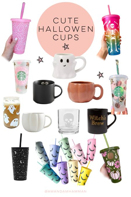 Halloween cup, Halloween, Etsy, pottery barn, target   #LTKhome #LTKGiftGuide #LTKSeasonal