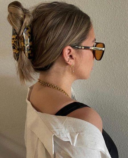 Tortoise claw clip #hair  #LTKbeauty