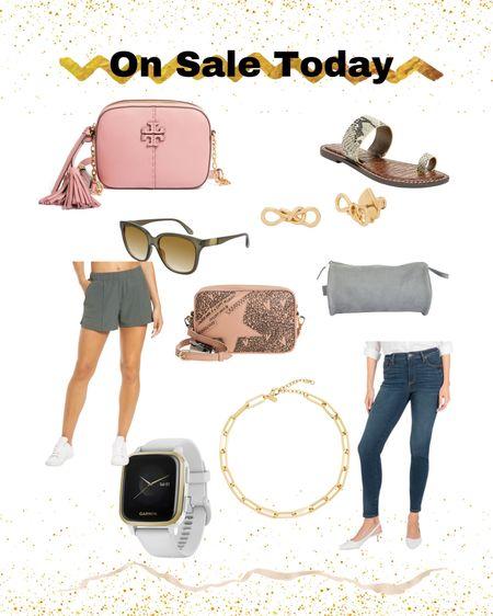 On sale today!  Designer bag - Tory Burch - fitness watch - sandals   #LTKsalealert #LTKstyletip #LTKunder50