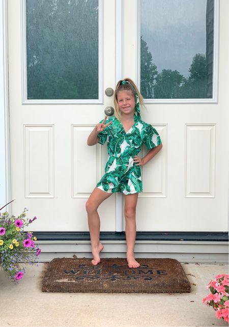 Girls tropical print romper.  #LTKkids #LTKunder50 #LTKunder100
