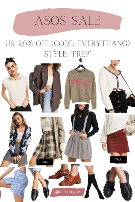 IG experts say preppy style and the academia aesthetic are trends to try this fall!   Sharing some items that are 25% off in the US with code: EVERYTHANG  Pleated skirt   chunky loafers   plaid skirts   sweater vests     #LTKunder100 #LTKsalealert #LTKunder50