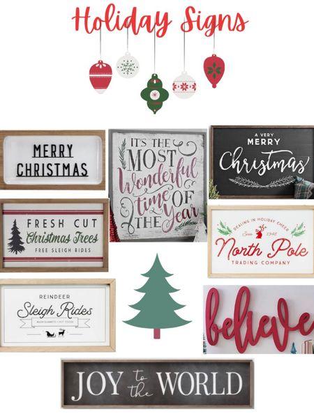 Holiday Signs ❤️🎄 #liketkit @liketoknow.it http://liketk.it/315W7 #LTKhome #LTKsalealert #StayHomeWithLTK