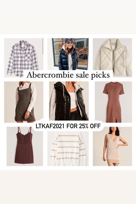 LTKAF2021 for 25% off @ Abercrombie   Abercrombie Wedding guest dresses Fall Outfits Fall decor Madewell Shacket LTKsale Fall dress  #LTKSale #LTKsalealert