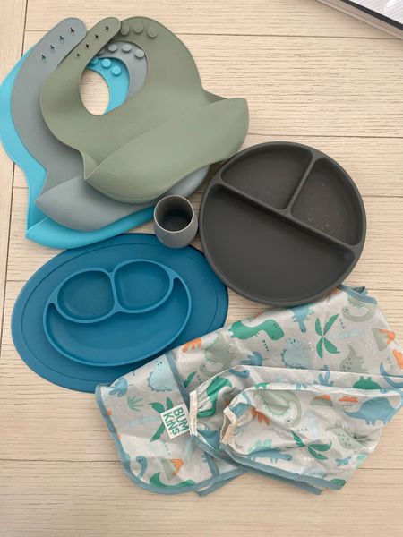 Favorite baby-led weaning eating items for toddlers. Bibs, plates, cups, and smocks.    #LTKbaby #LTKunder50