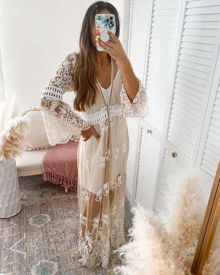 White nude lace dress/cardigan/coverup/bridal robe  Wearing size SMALL   http://liketk.it/3k2dJ #liketkit @liketoknow.it @liketoknow.it.brasil @liketoknow.it.europe @liketoknow.it.home @liketoknow.it.family #LTKunder50 #LTKwedding #LTKtravel #forever21
