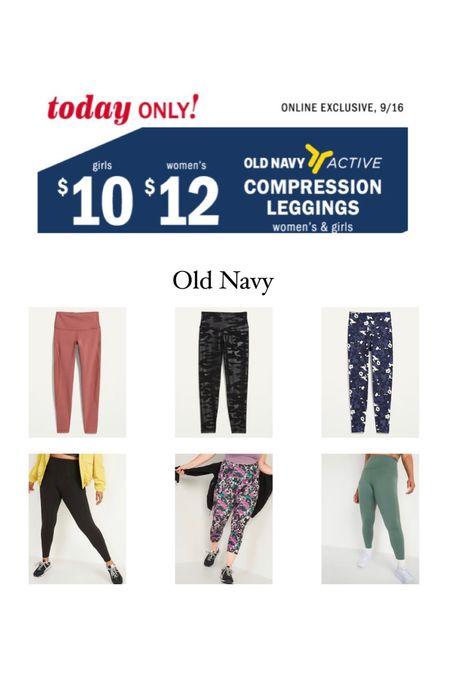 Old Navy compression leggings   #LTKfit #LTKsalealert #LTKunder50