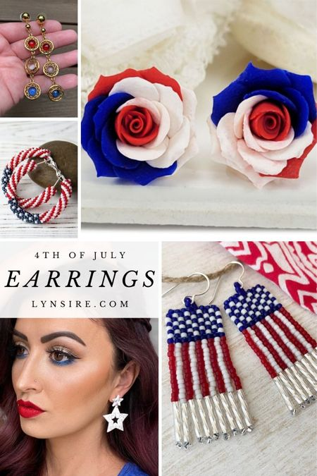 4th of July earrings to celebrate in style 🇺🇸 They make a great addition to complete your look. Some are low in stock so hurry!   #LTKunder50 #LTKworkwear #LTKSeasonal