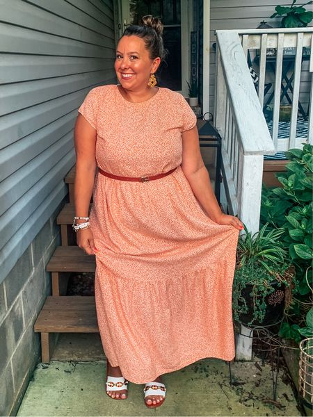 I love a good transition dress. This cutie from The Loft is not available anymore but I liked some other maxis that can take you from summer into fall 🍁!  Dress- Loft Belt- Indigo Closet Shoes- Simplee Sweet Boutique     #LTKbacktoschool #LTKsalealert #LTKSeasonal
