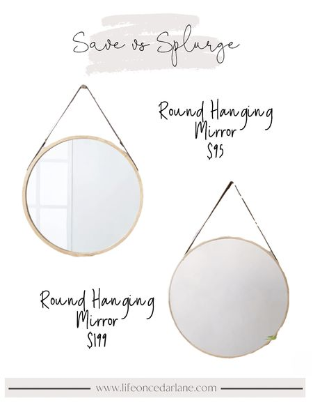 Round mirror save and splurge!! I have the splurge version, and love it so much! Perfect over a console table for your living room.   #roundmirror #targetfinds   #LTKunder100 #LTKhome