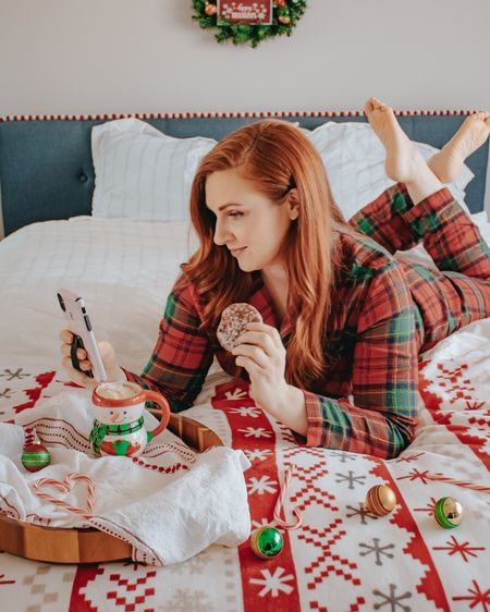Christmas break has begun! Time for comfies and Christmas cookies.   http://liketk.it/34bQ5 #liketkit @liketoknow.it #StayHomeWithLTK #LTKunder50 #LTKhome