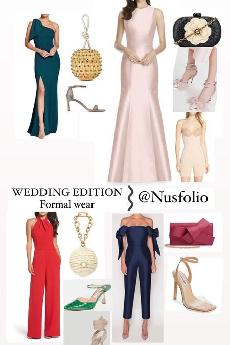 Wedding outfits, luxury shoes, wedding guest outfits, wedding accessories, luxury sandals, jumpsuits, formal wear   #LTKHoliday #LTKshoecrush #LTKwedding