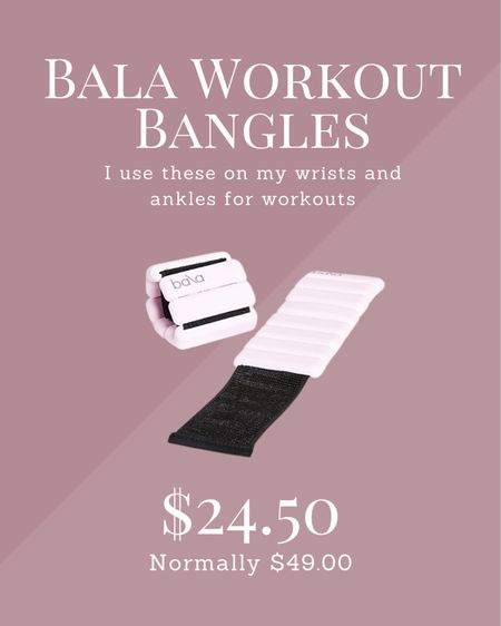 Bala bangles! 1LB I wear these on my wrists and ankles for my workouts. On sale!  #LTKsalealert #LTKunder50 #LTKfit