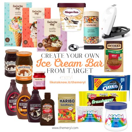 Target has everything you need to create your own ice cream bar. Hack: order thru the app and do drive up pickup.     #LTKfamily #LTKhome