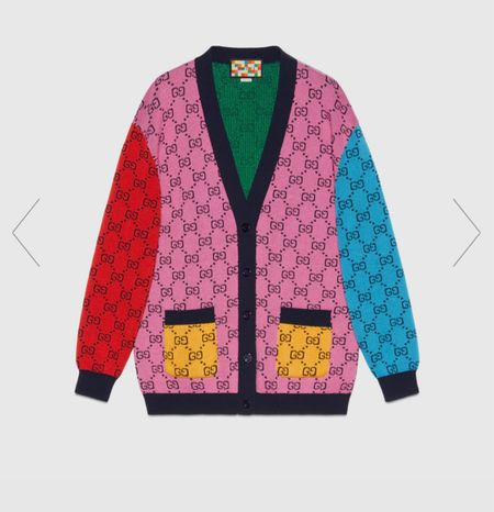 Can we chat about this amazing Gucci cardigan?  It's rainbow and perfect!   #LTKcurves #LTKfamily #LTKstyletip